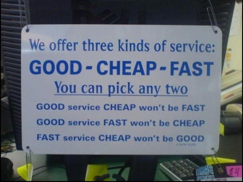 three kinds of service
