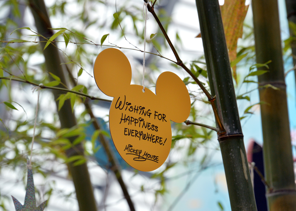 A wishing card, written by Mickey Mouse Star Festival at the Tokyo Disneyland