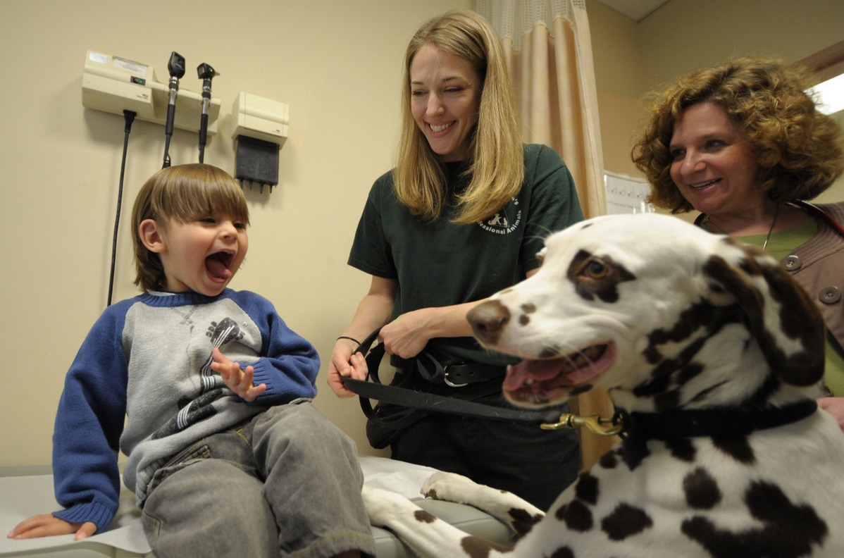 Dogs From '101 Dalmatians The Musical' Visit Hospitalized Children