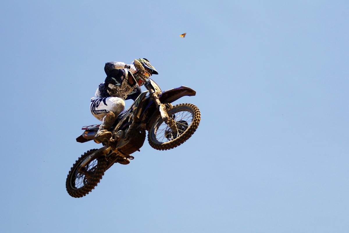Lucas Oil Motocross rider Aaron Plessinger Red Bull Redbud National MX race