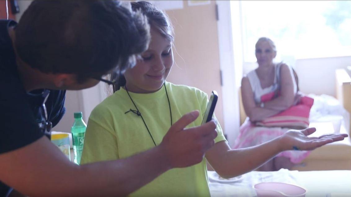 Kids play Pokemon Go at CS Mott Childrens Hospital