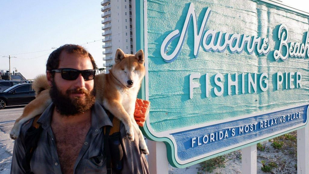 florida man and his blind dog complete 1,100 mile hike