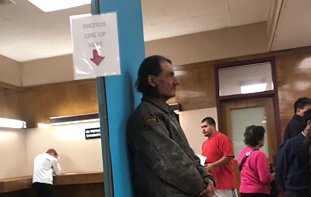 Myers in line at the DMV