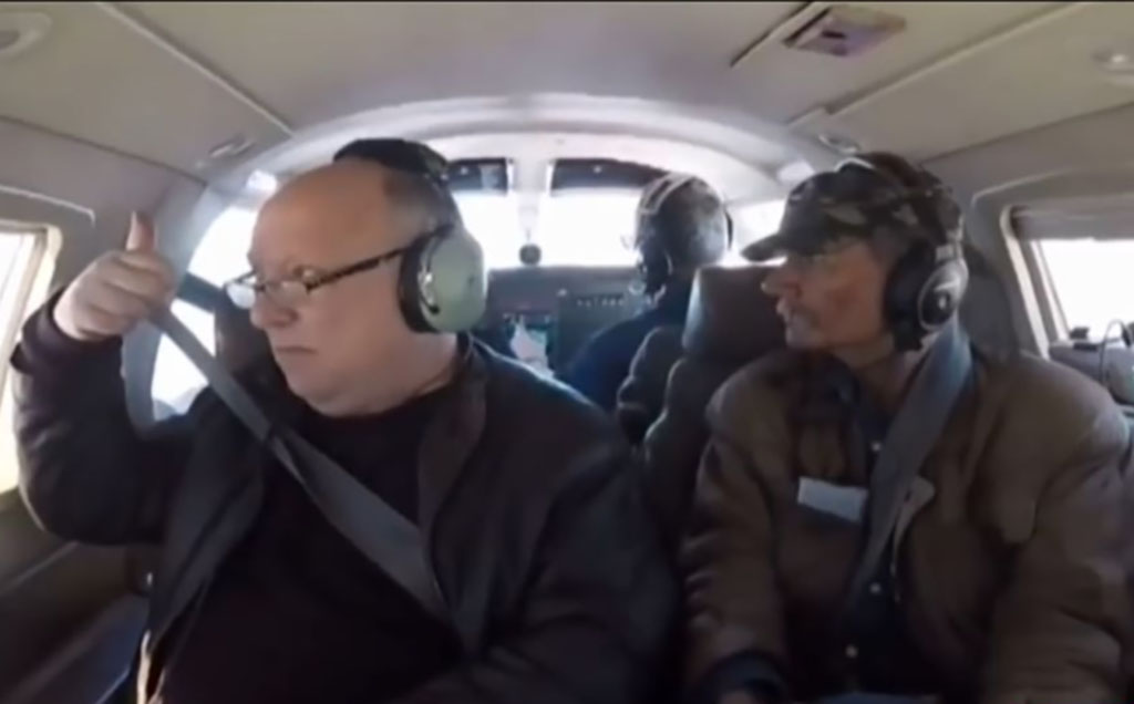 Myers and Askins in a plane