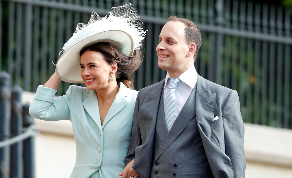 Lady Frederick Windsor and Lord Frederick Windsor attend the wedding of Princess Eugenie of York and Jack Brooksbank