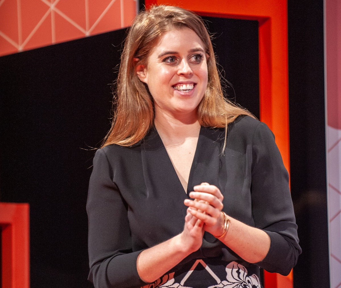 Princess Beatrice of York attends a conference at the Mobile World Congress 2019