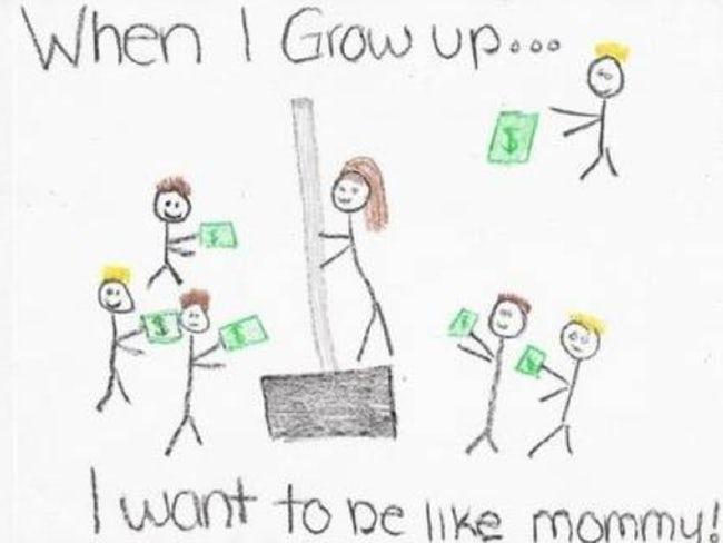 I want to be like mommy homework