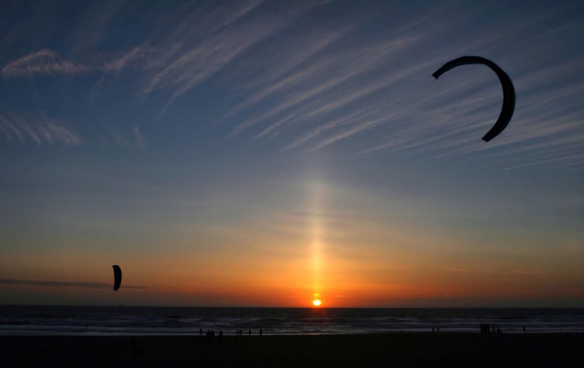 how are sun pillars formed