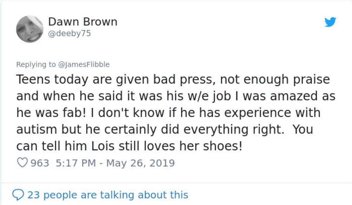 twitter response by dawn brown who was the woman who sent in the review