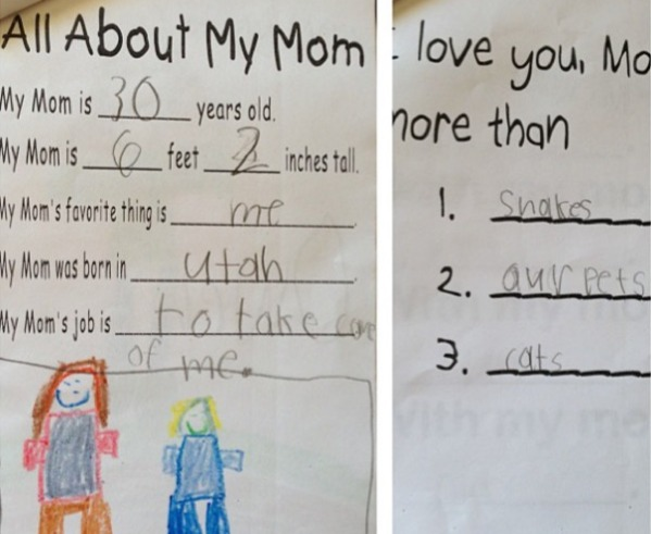 hilariously honest mothers day card