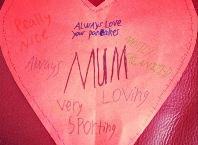 mostly organized mothers day card
