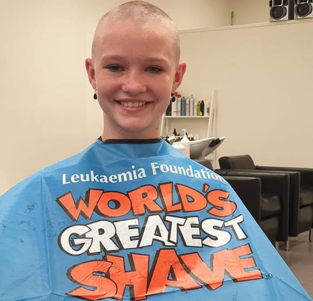 Kyarah with shaved head