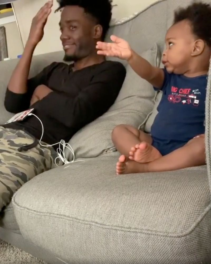 DJ and kingston both pointing with hands