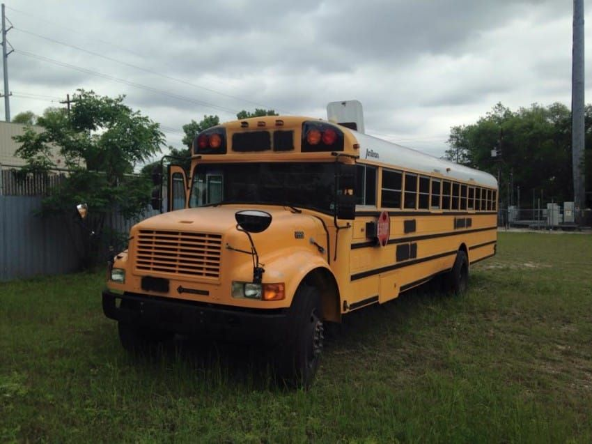 Michael bought this bus for $2,200