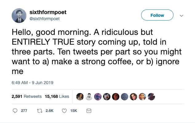 @sixthformpoet origin story tweet number one