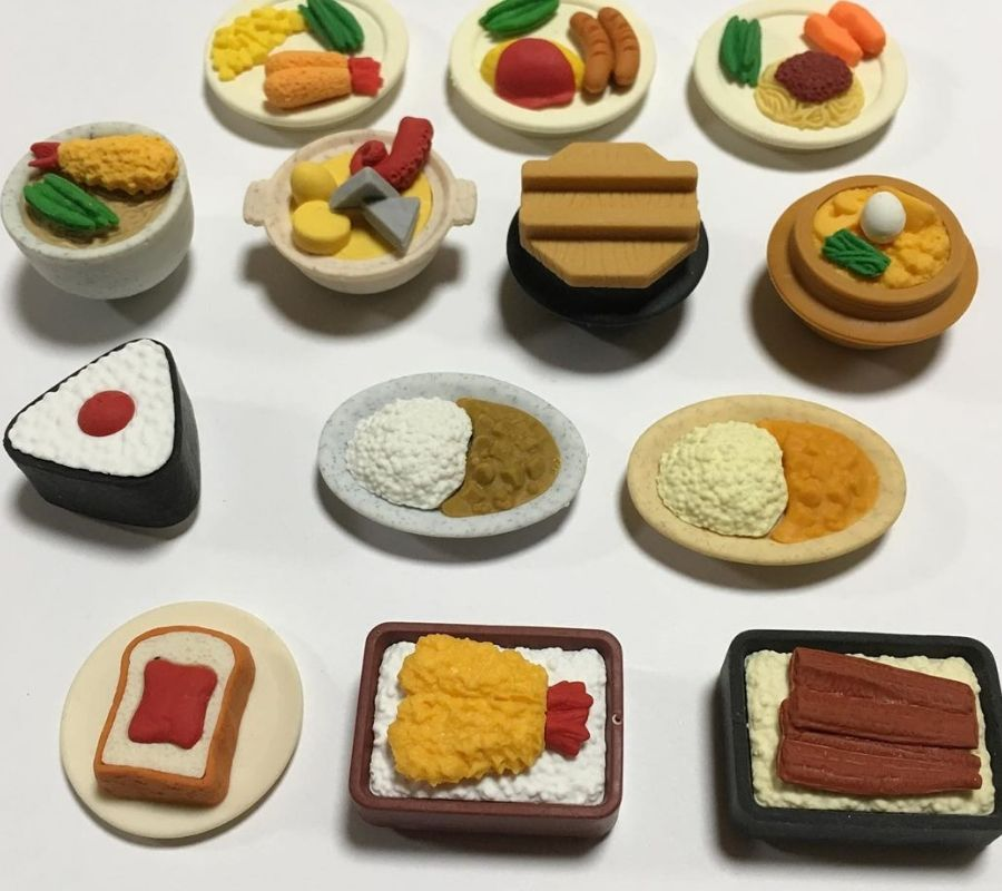 food looking erasers cute fake pencil supplies