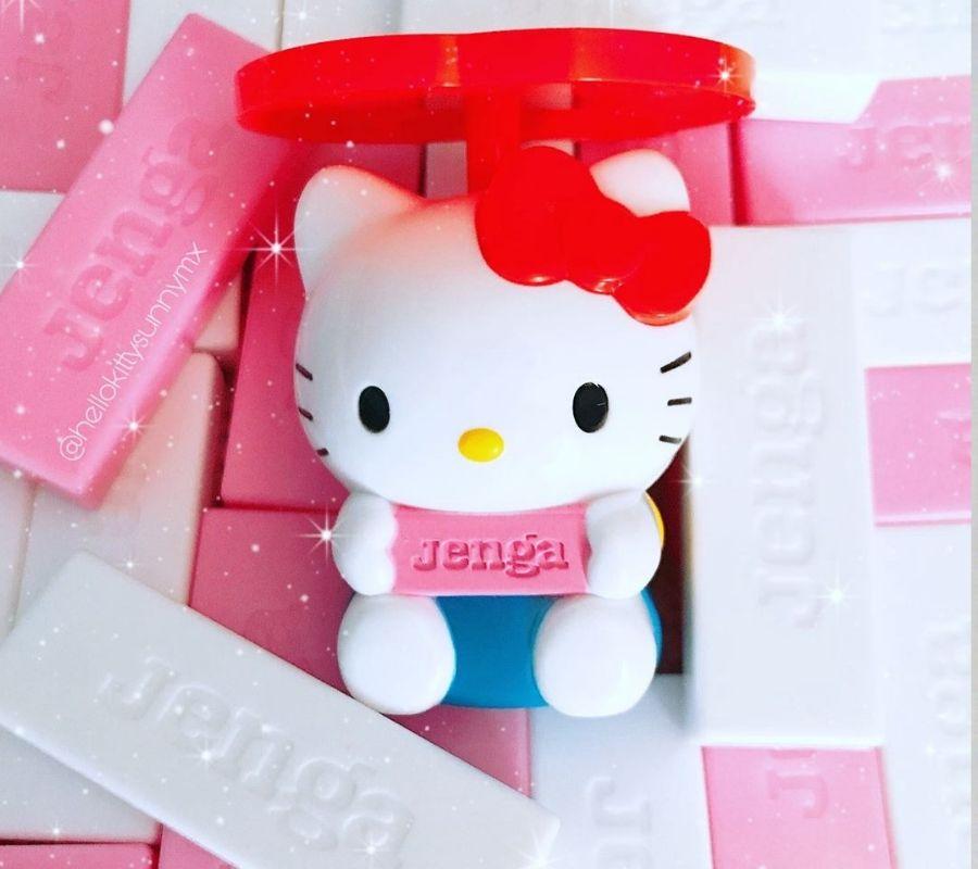 hello kitty jenga cute jenga pink