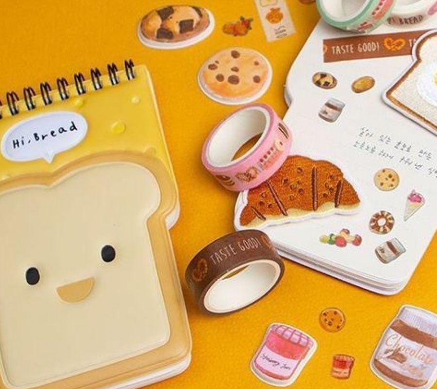 daiso bread notebooks stationary