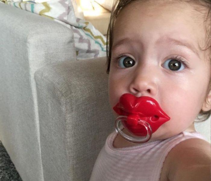baby selfie funny pacifier