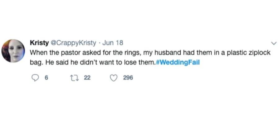 funny wedding tweet ziploc bag