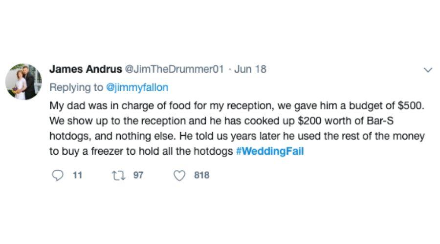 hot dog dad caterer tweet