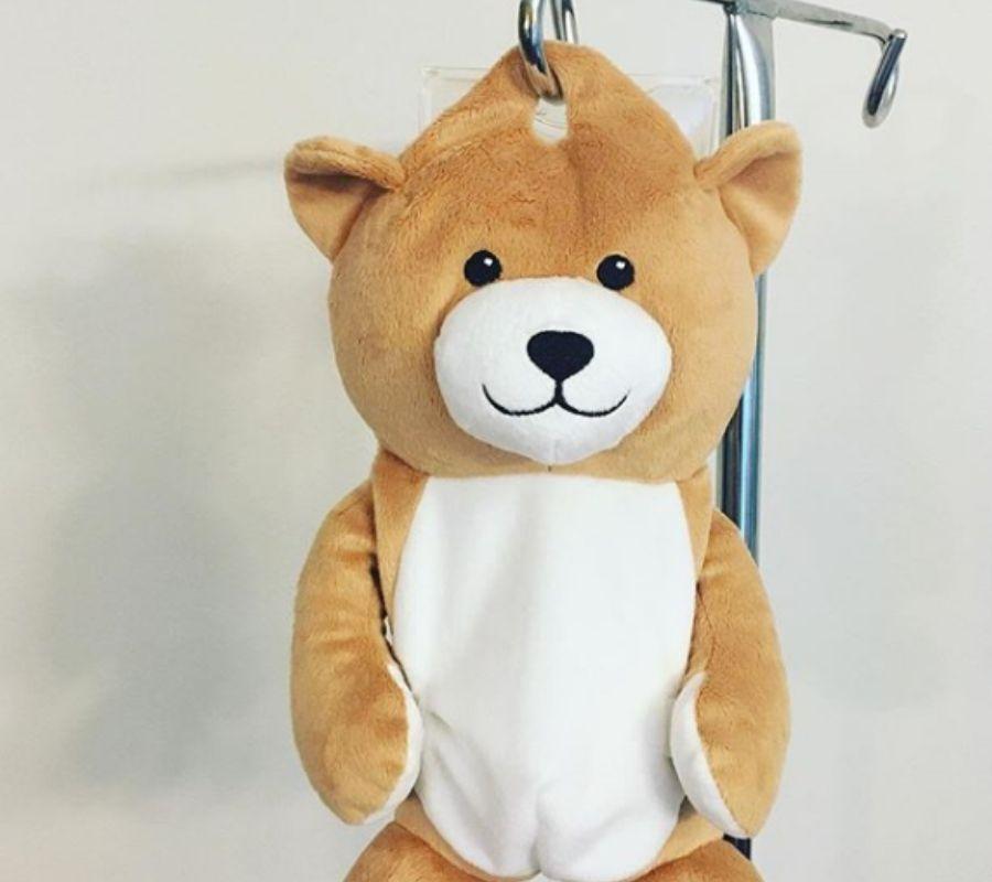 medi teddy teddy bear IV bag cover