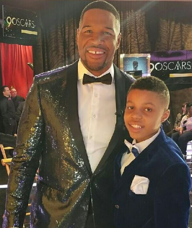darius brown with GMA Host michael strahan