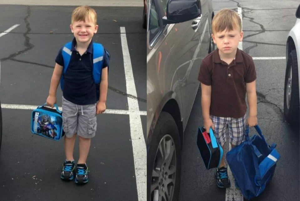 morning of first day vs morning of the second day