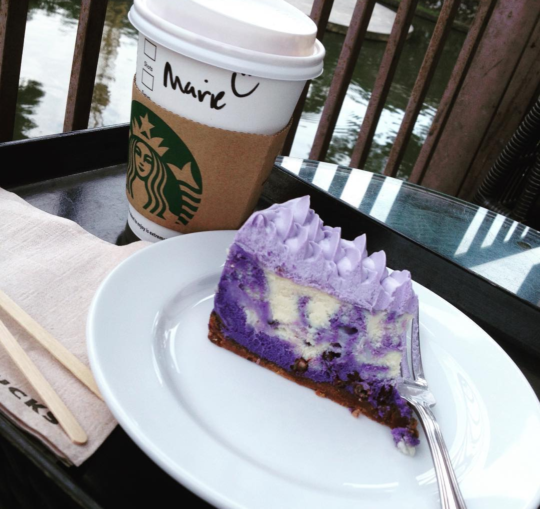 purple yam  cheesecake from starbucks