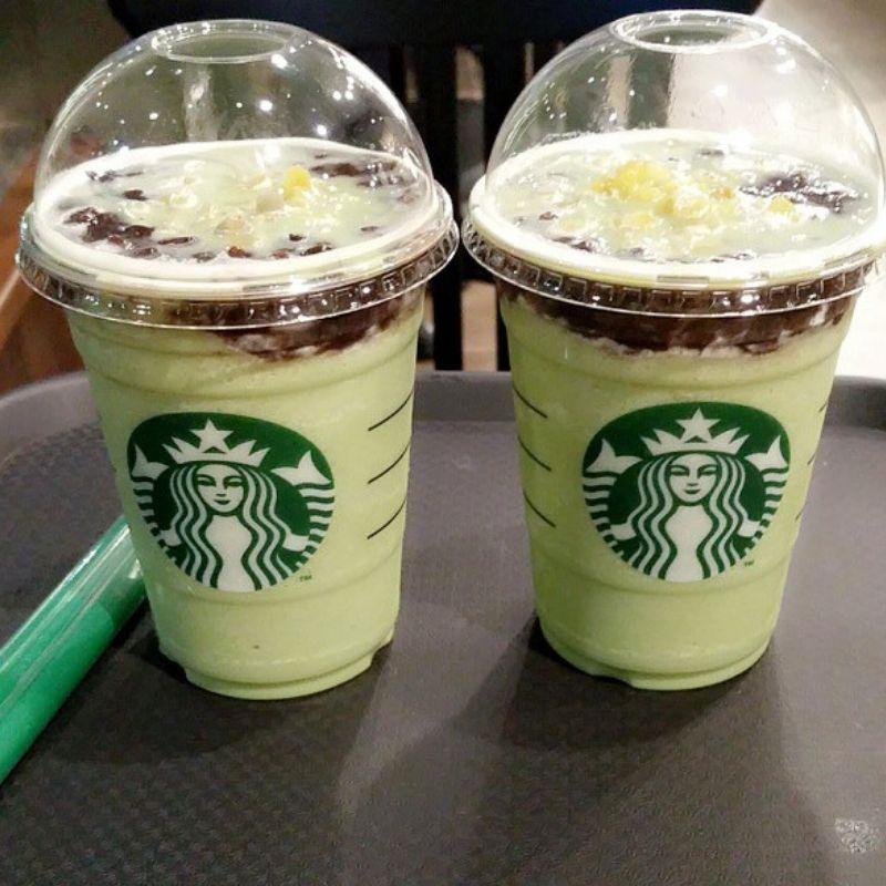 red bean green tea starbucks frappe