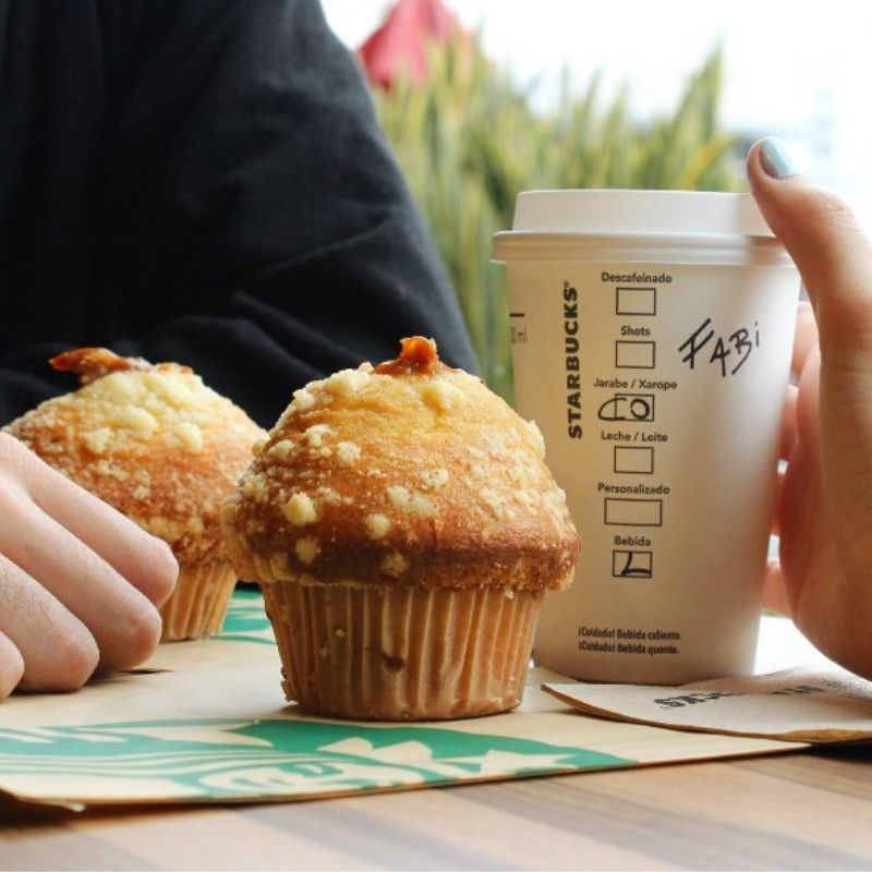starbucks argentina muffin Vanilla and dulche