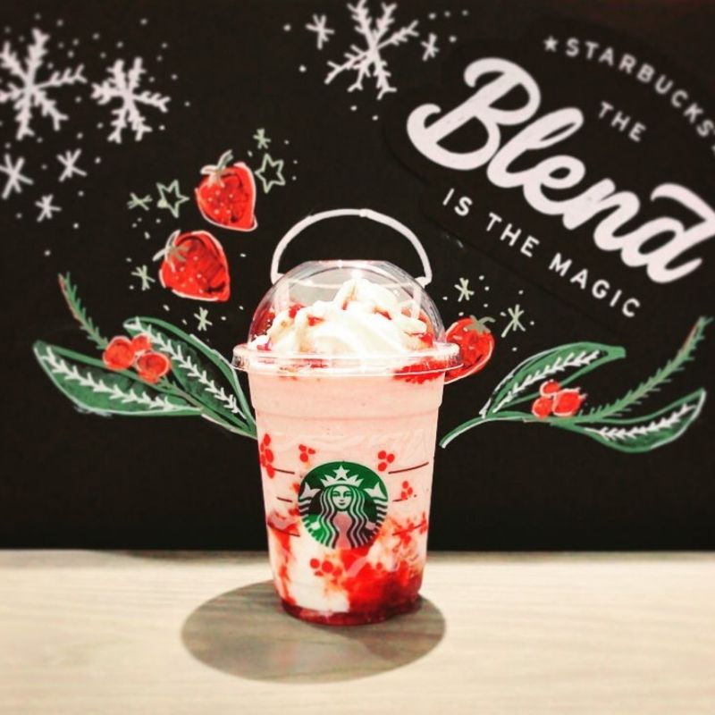 strawberrycheesecake frappe from star$