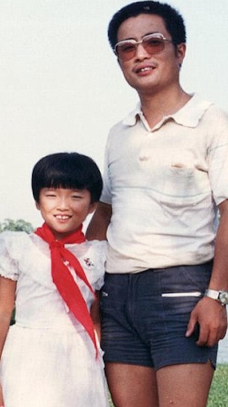 1987 pic of hua and huahua in dress