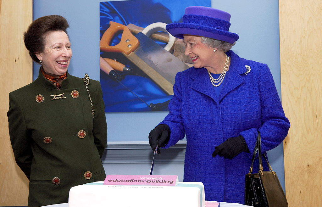 Queen Elizabeth II And Princess Anne Highlighting The Achievements Of Women To Mark International Women's Day, Visit The Offices Of Women's Education In Building, Celebrating 20 Years By Inviting The Queen To Cut A Birthday Cake-52116083