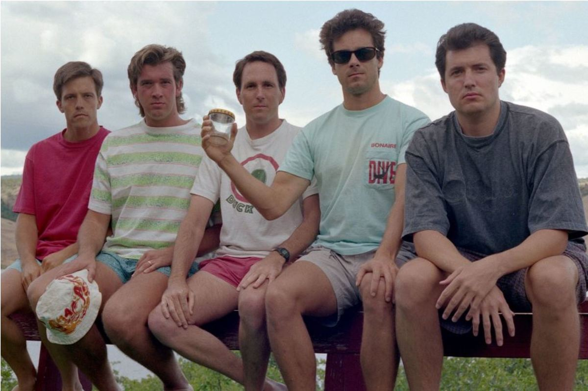 The friends' third photo in 1992
