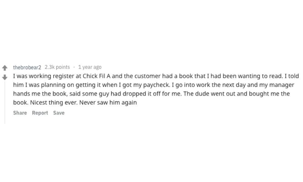 reddit chik fil a cashier