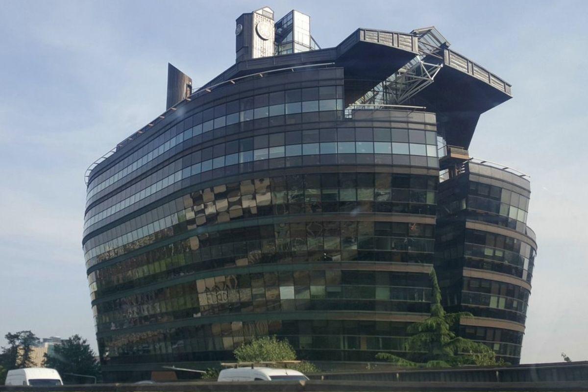 noah's arc building looks like a big boat