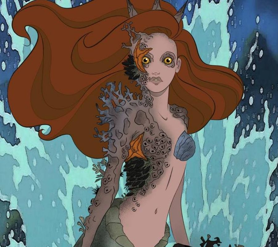 scary ariel she's got coral on her face
