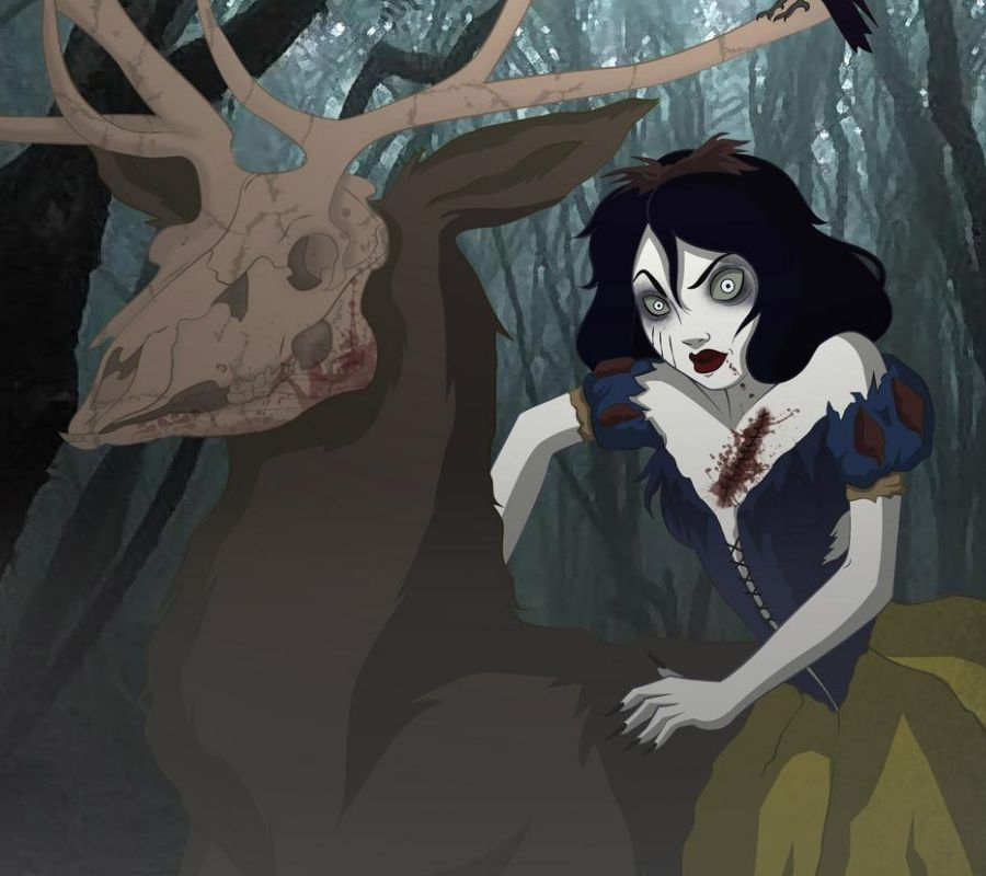 snow white riding scary thing looks like a deer