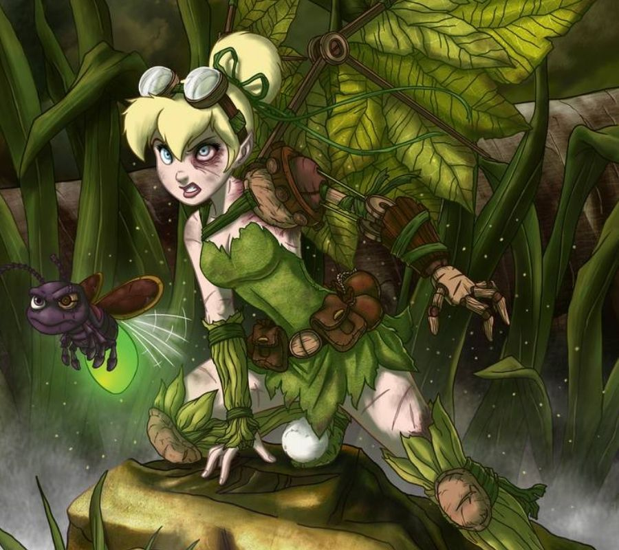 tinkerbell scary looking angry