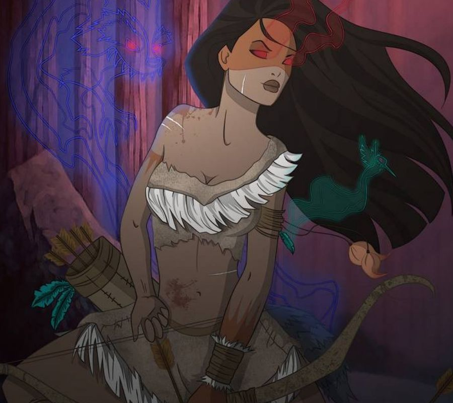 pocahontas haunted looking spirits around her