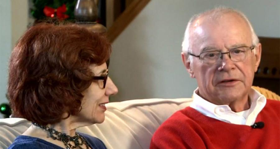 dennis and karen being interviewed