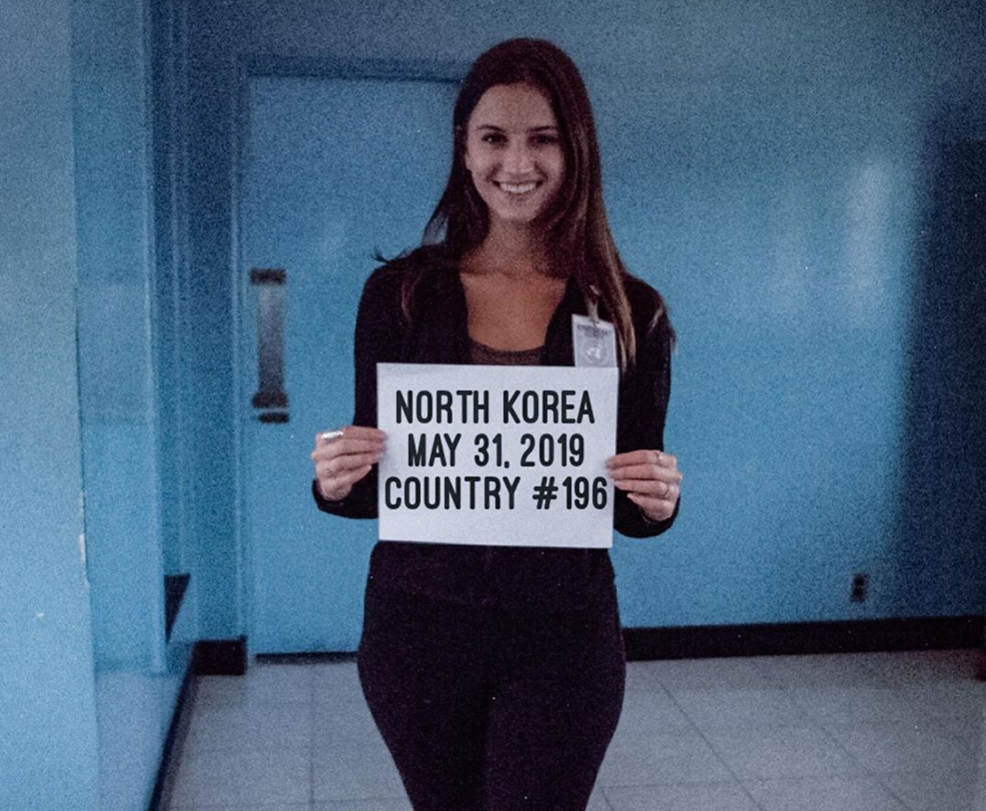 Lexie Alford in North Korea breaking guiness world record