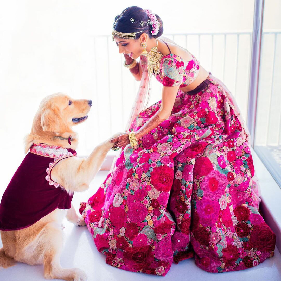 a bride and her best friend at an indian wedding