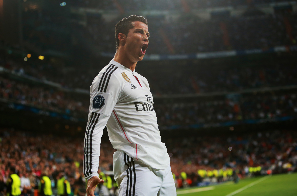 Ronaldo of Real Madrid at UEFA Champions LEague Round
