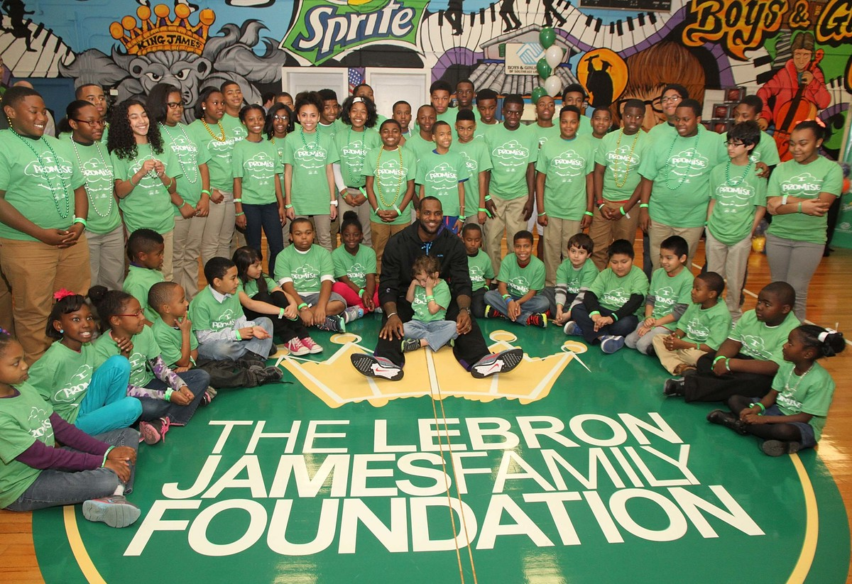lebron james family foundation event in Louisiana