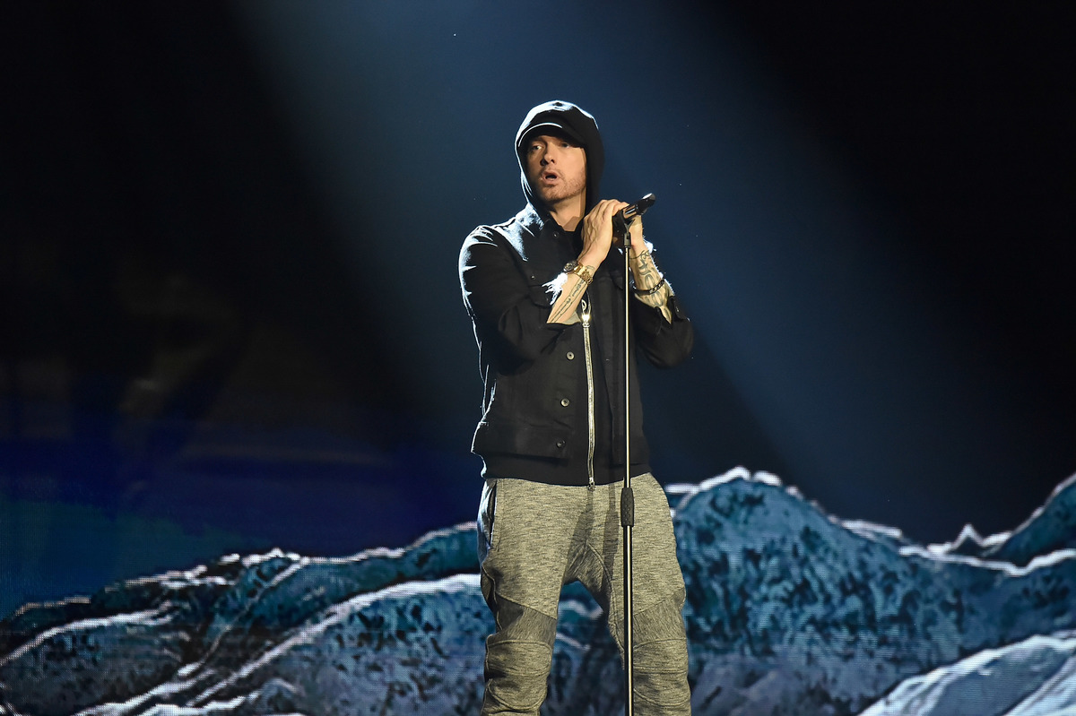 Eminem on stage in london for MTV EMAs 2017