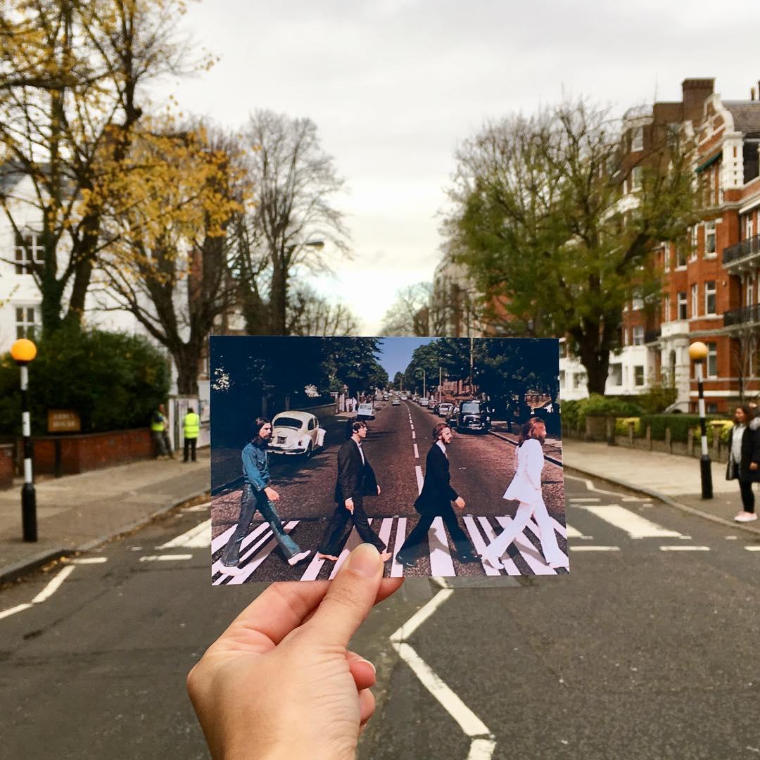 abbey road beatles crossing photo