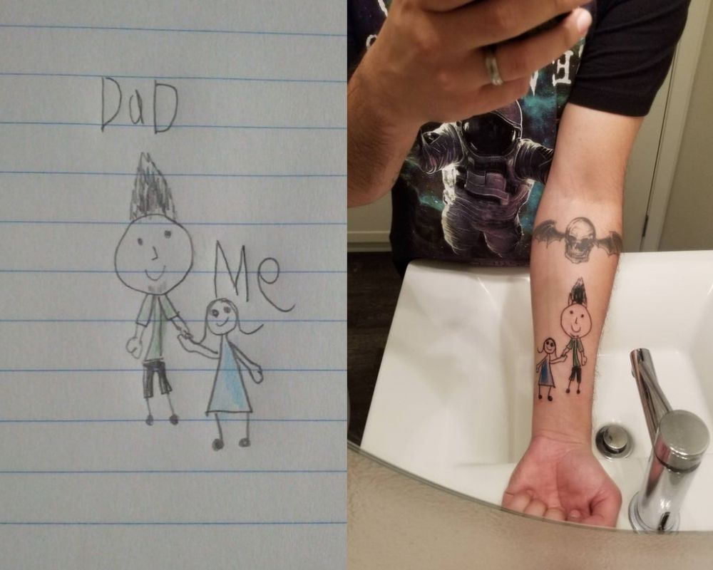 dad and me picture and tattoo