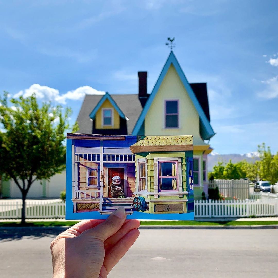 the house the animated film UP uses